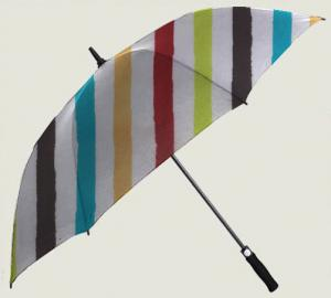 China Leisure Style Slanting Strip Golf Umbrella for Sale on sale