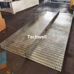 100-600mm Perforated Cable Tray Making Machine With Hydraulic Punching Pre Cutting