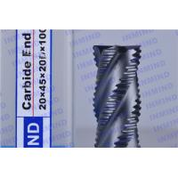 China 2.4 mm Pitch AlTiN Coating Rough Cut End Mill , 4 Flute Solid Carbide Drill Bits on sale