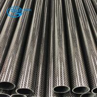 China Large Woven Finish Carbon Fibre Tube, customized Length,1k 3k,12k carbon fiber tube on sale