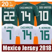 China Thailand Camisetas Mexico MEN WOMEN soccer jersey 2018 CHICHARITO LOZANO MARQUEZ DOS SANTOS GUARDADO girls football on sale
