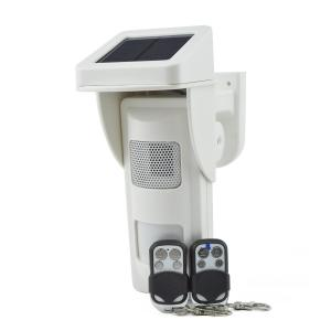 China Solar Alarm PIR Detector with Sound and Light Alert with Record Alarm Voice Yourself on sale