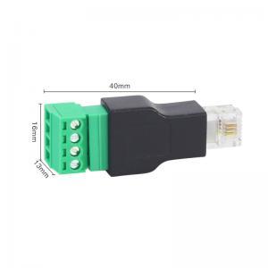 RJ11 6P4C Male Connector Modular Plugs to 4 Pin Screw ...