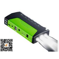 China Green Portable Car Jump Starter Led Light Torch / Sos / Strobe 3 In 1 Jump Starter And Power Supply on sale