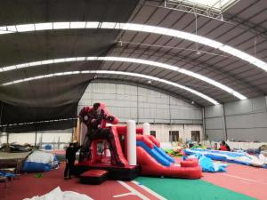 China Indoor Ironman Red Inflatable Bounce House Combo Waterproof Safety Material on sale