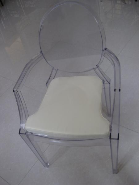 Superbe Ice Transpa Resin Louis Ghost Chair With Cushion Uv Resistant Hotel Images
