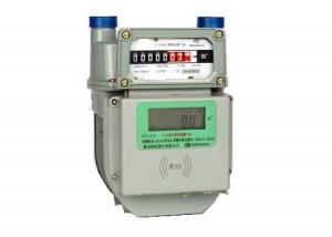 China RF IC Card Smart Diaphragm Prepaid Gas Meter G2.5 With Remote Control on sale