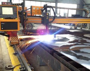 China Heavy duty CNC Plasma Cutting Machine 50mm Cutting thickness on sale