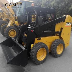 China Mini All wheel drive XCMG power rent skid steer loader XT740 skid steering for Sale on sale