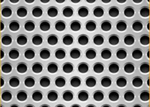China Standard 5mm Hole 8mm Pitch Decorative Stainless Steel Sheets Perforated  For USA, EU, Africa Market on sale