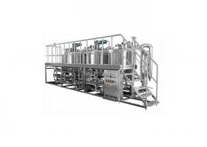 China Mirror Polish Surface 3 Vessel Brewhouse Manual Control System With 1 Year Warranty on sale