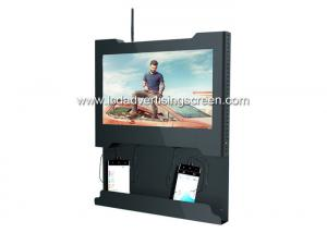 China Genevision LCD Advertising Screen Ad Player With Cell Phone Charging Station on sale