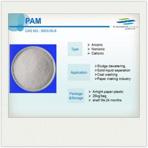 China Anionic Cationic Water Treatment Polyacrylamide PAM on sale
