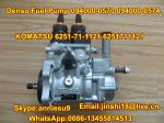 Denso Original Fuel Pump 094000-0570  094000-0574 for KOMATSU 6251-71-1121 6251711121