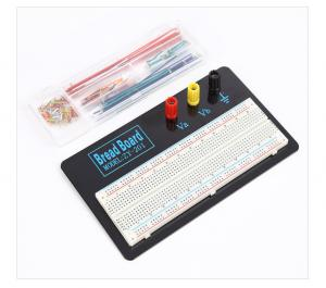 China White Solderless Transparent Breadboard And Wire Kit With Metal Plate on sale