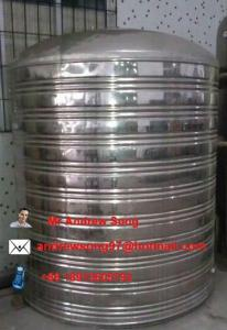 China stainless steel water storage tanks on sale