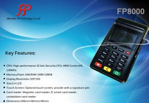 China FP8000 wireless handheld pos terminal with sim card on sale