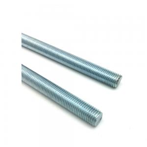 China Blue Zinc Plated Galvanized Threaded Rod Corrosion Resistance Non Toxic on sale