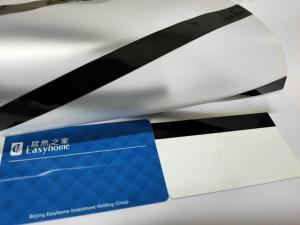 China A4 Size Plastic Card Making Pvc Coated Overlay With Magnetic Stripe on sale