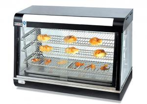 China Electric Heating Food Warmer Showcase Counter-top Curved Glass Bread Hot Display Cabinet on sale
