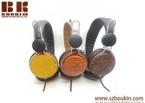 China High-end retro fashion custom oem wooden headphone with Good stereo sound from Headphone Factory in China on sale