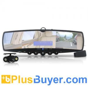 China Car Wireless Rearview Mirror and Camera (MP3, FM, Bluetooth) on sale