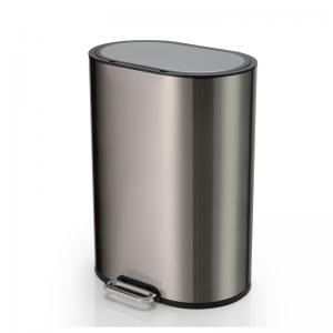 China 410 Stainless Steel 6L Gray Bathroom Trash Can on sale