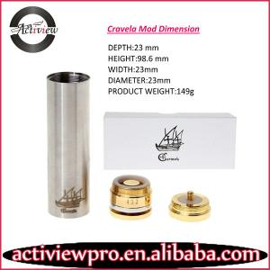 China Top new caravela mechanical mod 18650 clone locking ring on sale