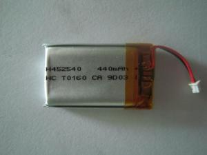 China Cell Phone Cells , Vedio Camera 440mah 3.7v Lithium Polymer Batteries High Energy on sale