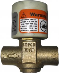 China 312psi ET98 50362 001 Electronic Gas Shut Off Valve on sale