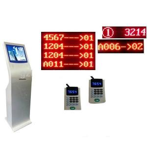 China Automatioc bank/electric/hospital/ wireless queue management system with kiosk on sale