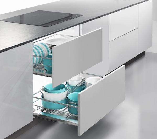 Moving Smoothly Kitchen Pull Out Basket Universal Open For Corner