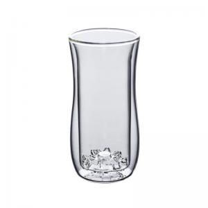 China Double Walled 350ml Borosilicate Glass Turkish Tea Cups on sale