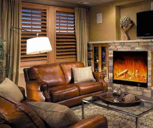 Quality Apartment Bedroom Fake Flame Led Wall Mounted Electric Fireplace With Heater For