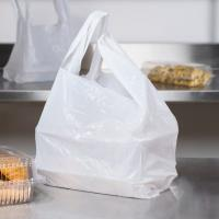 China White Biodegradable Plastic Shopping Bag For Food / T Shirt on sale