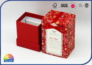 China 4c Print Matte Lamination Paper Jewelry Boxes With Ribbon Bowknot on sale