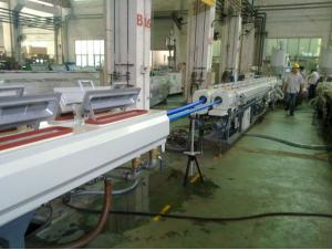 China Twin Screw Extruder Machine Plastic PVC Twin Pipe Making Machine For Water Pipe on sale