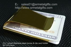 China Slim clip for money, pocket stainless steel money clip wallet for men, China factory, on sale