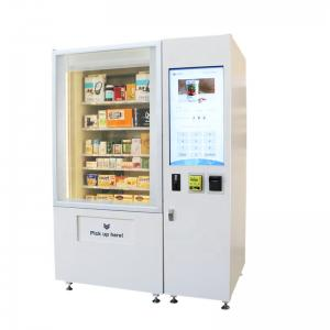 China Robotic Vending Machine with Lift System for pizza Fresh Food sandwich Salad sushi cupcake with microwave oven on sale