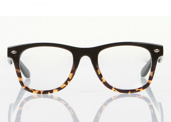Cute Plastic Modern Optical Frames Leopard Print Gles For Decoration Images