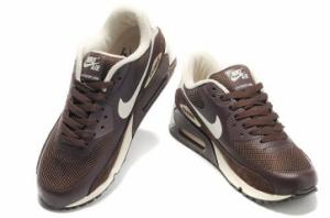 China Nike Air Max 90 Hyperfuse White Brown Womens Shoes - Tradingspring. net on sale