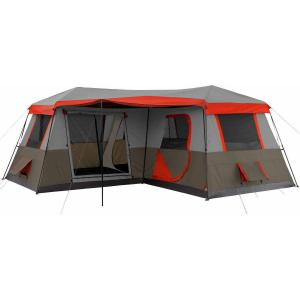 China 3 Room Cabin Tent Outdoor Camping tent use for 12 person on sale