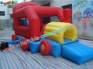China Car Inflatable Bounce Houses With Mini Jumper Slide For Children Play on sale