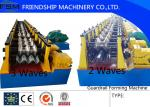 3mm Thickness Three Waves Guardrail Roll Forming Machiner With Gearbox Drive and automatic Stacker