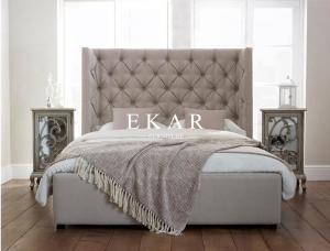 Headboard Upholstered Latest Wooden Design King Size Bed For Sale Modern Bedroom Furniture Manufacturer From China 108700554