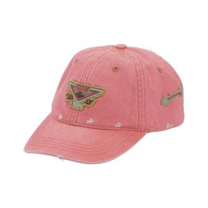 China 6 Panel Pink Youth Cotton Baseball Caps With Brass Buckle And Grommet , Azo Free on sale
