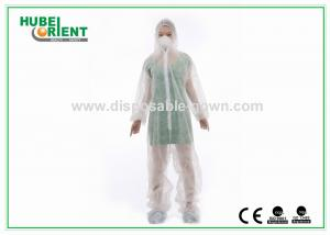 China Acid Resistant White Disposable Coveralls Work Protective Clothing on sale