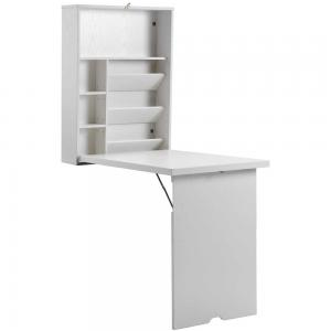 "China White 59""H 6.2""D Folding Home Office Computer Table With Shelves on sale"