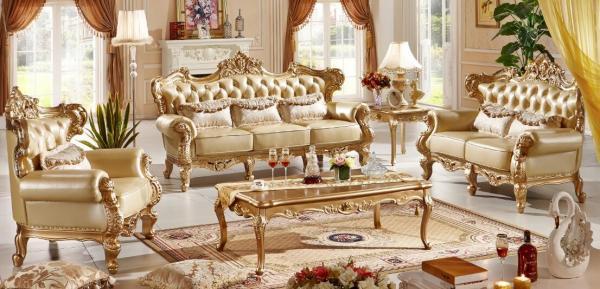 Leather Sofa Set Velvet Clical