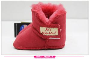 China 2017 Hot Sale sheepskin double face fur Baby Shoes Fancy Baby Girls Shoes Winter shoes on sale